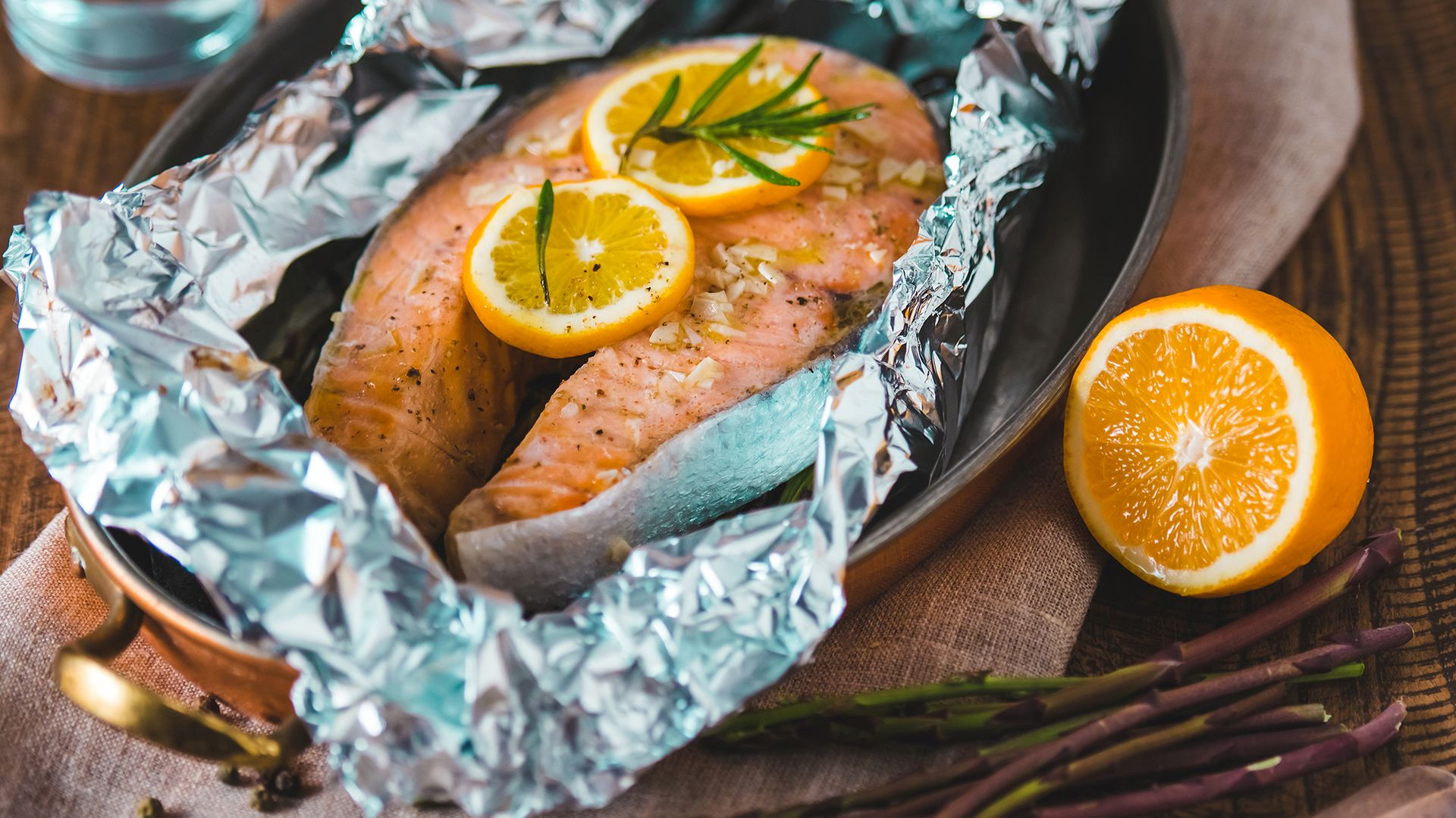 Succulent Salmon Baked In Foil